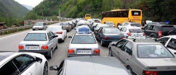 ترافیک در بزرگراه های مازندران سنگین است